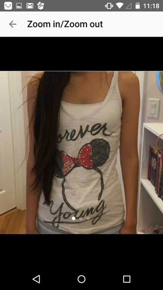 tank top disney minnie mouse forever young