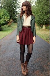 skirt,flounce,red,automn,girl,cute