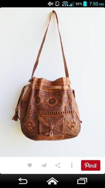 bag brown bag brown crossbody bag shoulder bag hipster