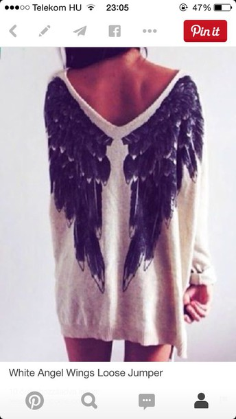sweater angel wings knitted sweater