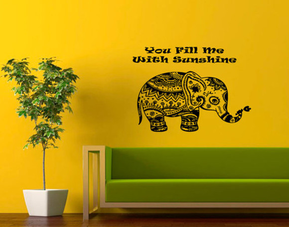 elephant jewels animal phrase vinyl decal decoration