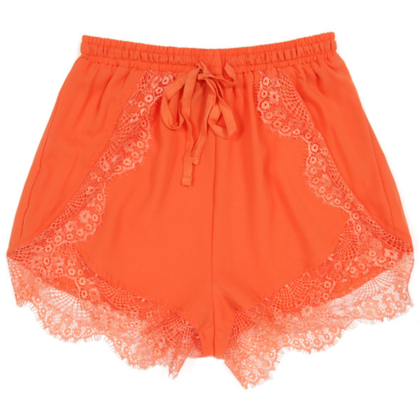Sparrow Shorts Tangerine | Shop Shorts | Beginning Boutique - Polyvore
