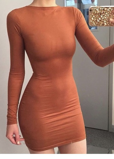 dress orange orange dress classy dress classy long sleves long sleeves long sleeve dress bodycon bodycon dress party dress sexy party dresses sexy sexy dress party outfits sexy outfit summer dress summer outfits elegant dress cocktail dress cute dress girly dress date outfit birthday dress clubwear club dress homecoming homecoming dress wedding clothes wedding guest engagement party dress
