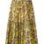 Red Valentino - floral-print skirt - women - Silk/Cotton - 42, Yellow/Orange, Silk/Cotton