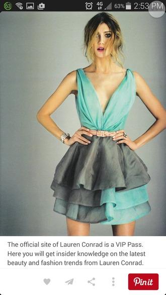 dress lauren conrad blog blue dress grey dress deep v neck dress