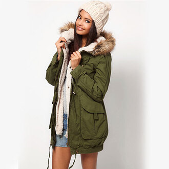 coat hood army green green parka fur lined fur trimmed hood blue parka black parka shorts