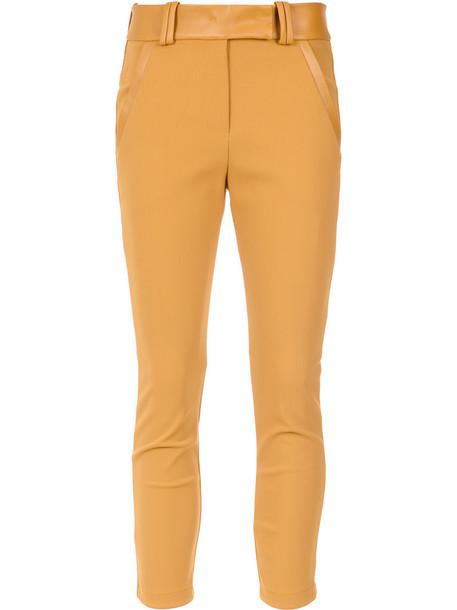 Gloria Coelho leggings women spandex yellow orange pants