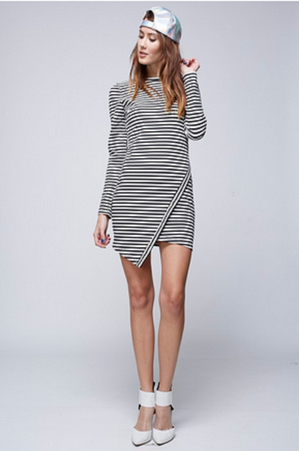 dress stripes striped dress long sleeve dress