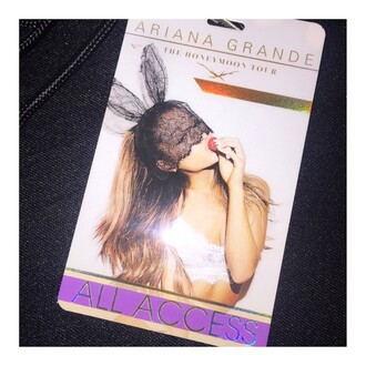 hat ariana grande black hat bunny ears bag