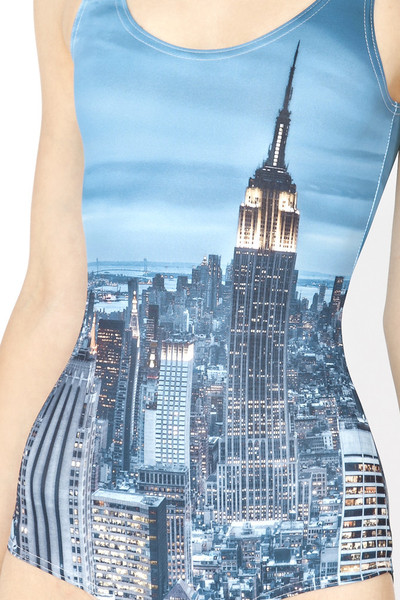 New York Skyline Printed One Piece Swimsuit – Glamzelle