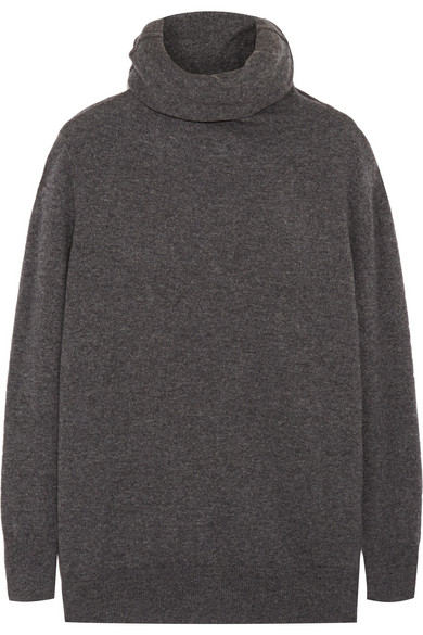 Knit cashmere turtleneck sweater