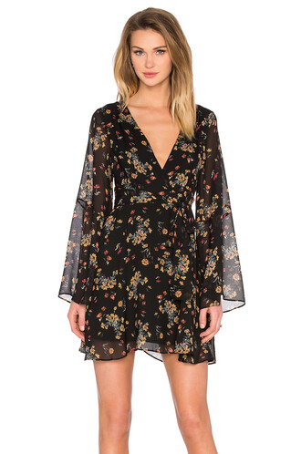 dress printed dress black