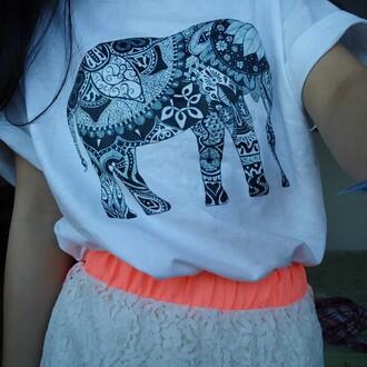 shirt hipster elephant elephant print tank tee hipster top