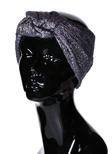 Zahara Metallic Knot Turban | Created by Fortune
