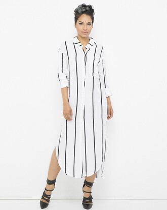 dress shirt dress black and white black and white dress stripes striped dress