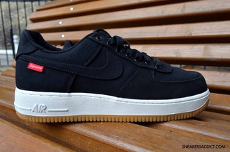 shoes nike shoes black shoes supreme nike air force 1