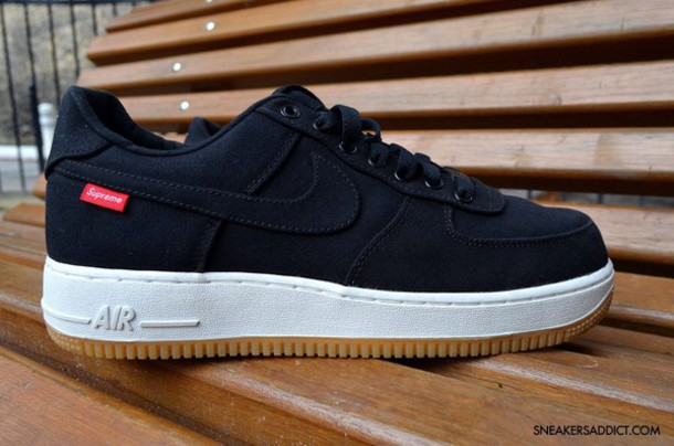 shoes nike shoes black shoes supreme nike air force 1 nike air force 1 nike
