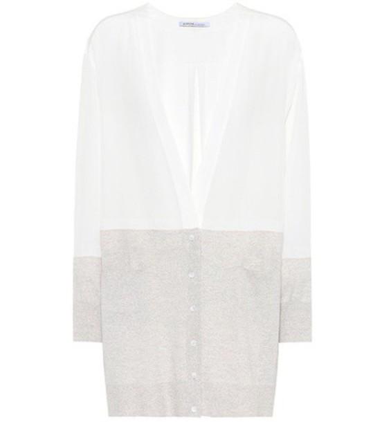 Agnona cardigan cardigan silk white sweater