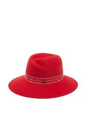 hat,felt hat,red