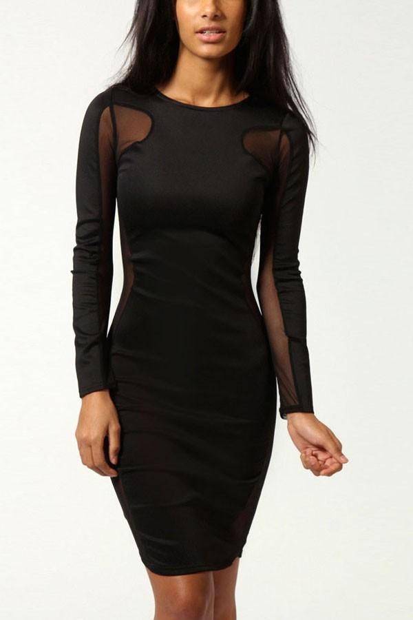 dress black black dress mesh mesh dress