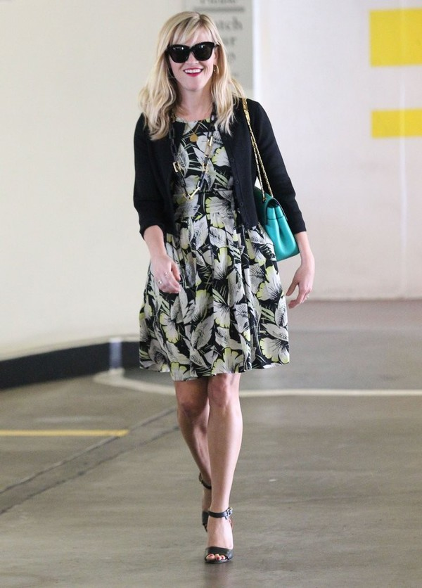 shoes reese witherspoon bag dress