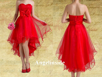 high low homecoming dress red homecoming dress homecoming dress lace homecoming dress dress