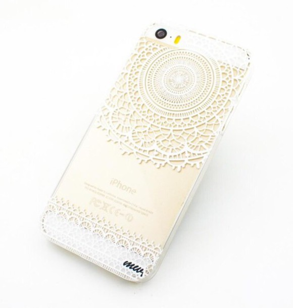 phone cover clear gold white henna doodle phone cover iphone case iphone 6 case