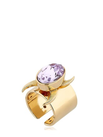 ring gold purple jewels
