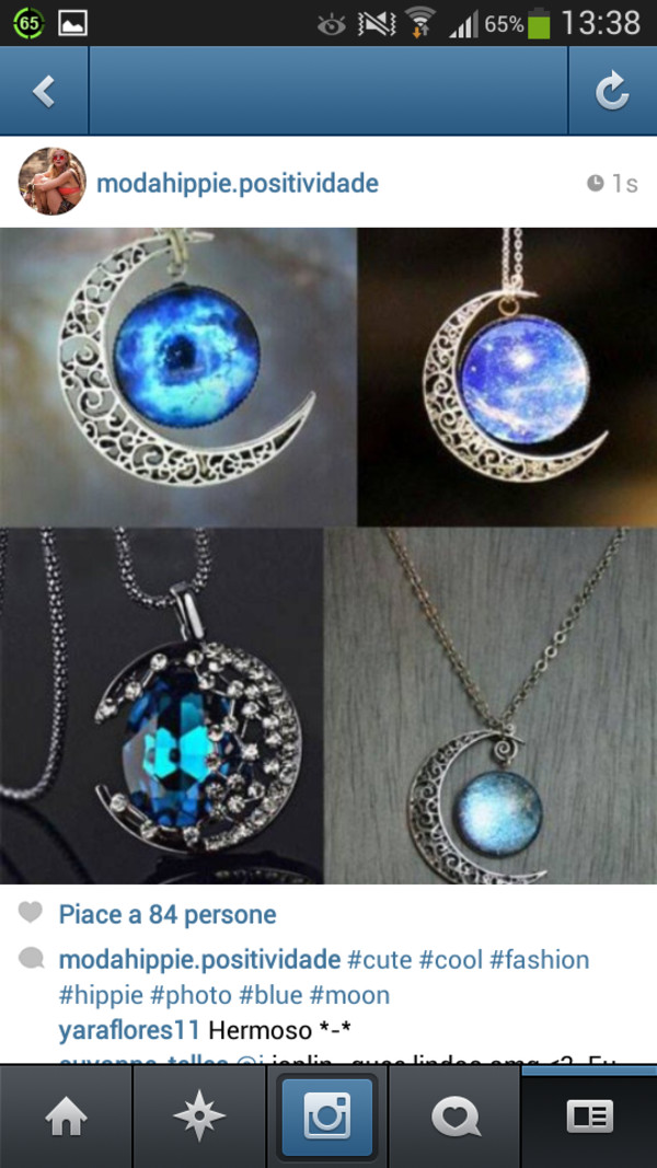 jewels moon necklace pendant fashion style