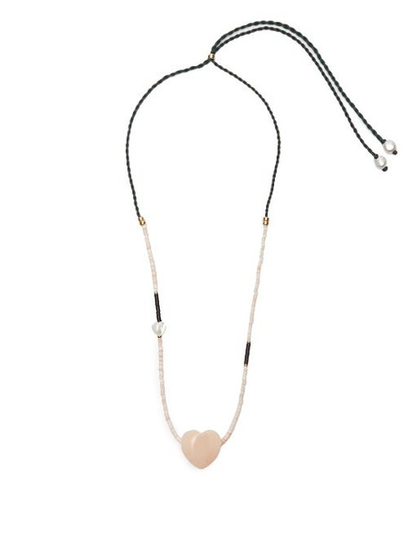 Lizzie Fortunato - Gemini Heart Shaped Beaded Necklace - Womens - White