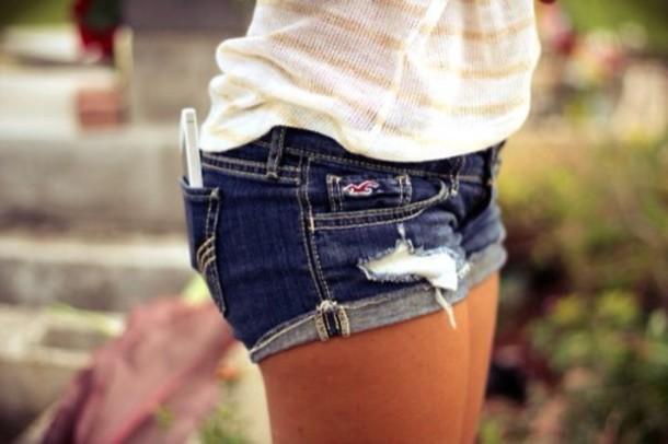 shorts dark blue hollister ripped shorts spring break