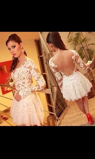 dress white long sleeve lace dress