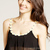 Women Sweet Daisy Chiffon Overlay Stretch Black Bralet Crop Top Bra Bustier | eBay