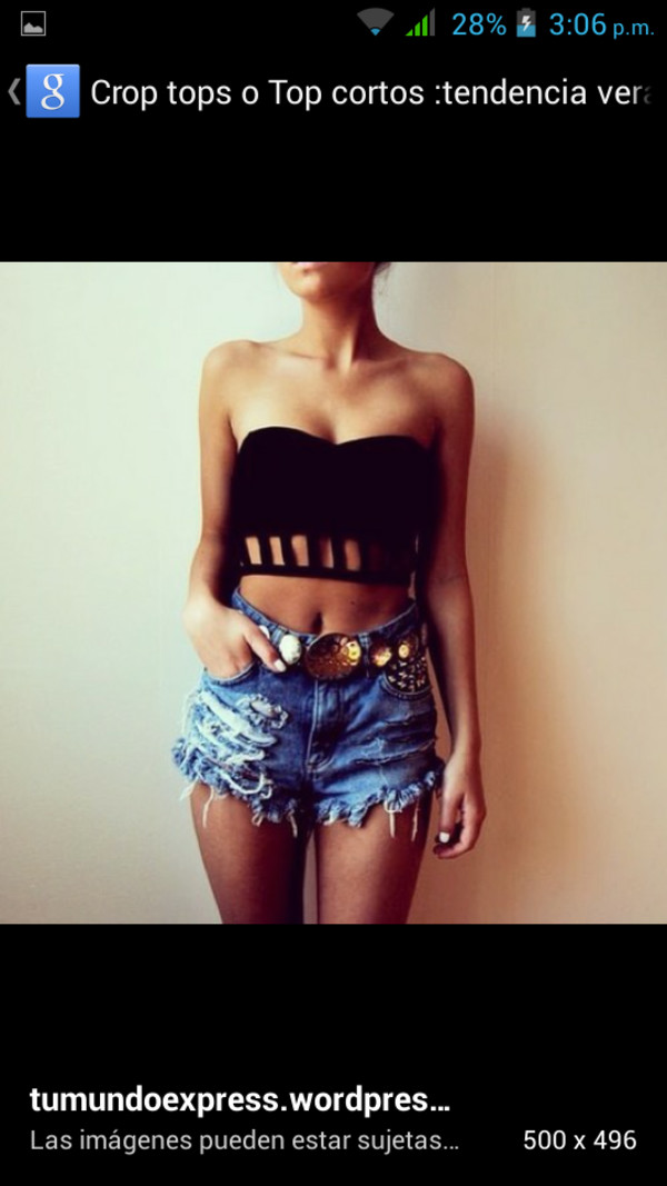 blouse crop tops shorts