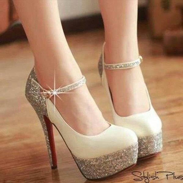shoes white high heel beautiful nude diamond heels heels diamonds glitter high heels gold gold sequins beige sparkly shoes wedding shoes