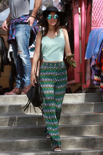 top pants victoria justice spring outfits sunglasses