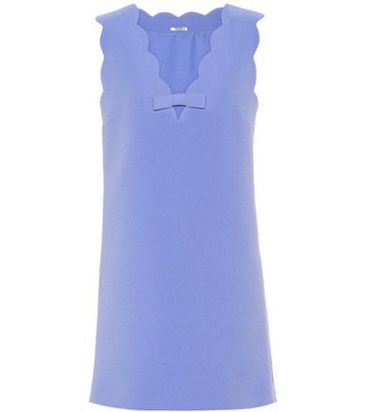 Miu Miu Sleeveless minidress in blue