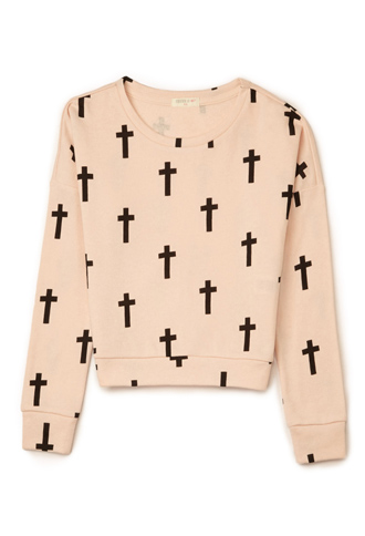 Cross Print Sweatshirt (Kids) | FOREVER 21 - 2000110808