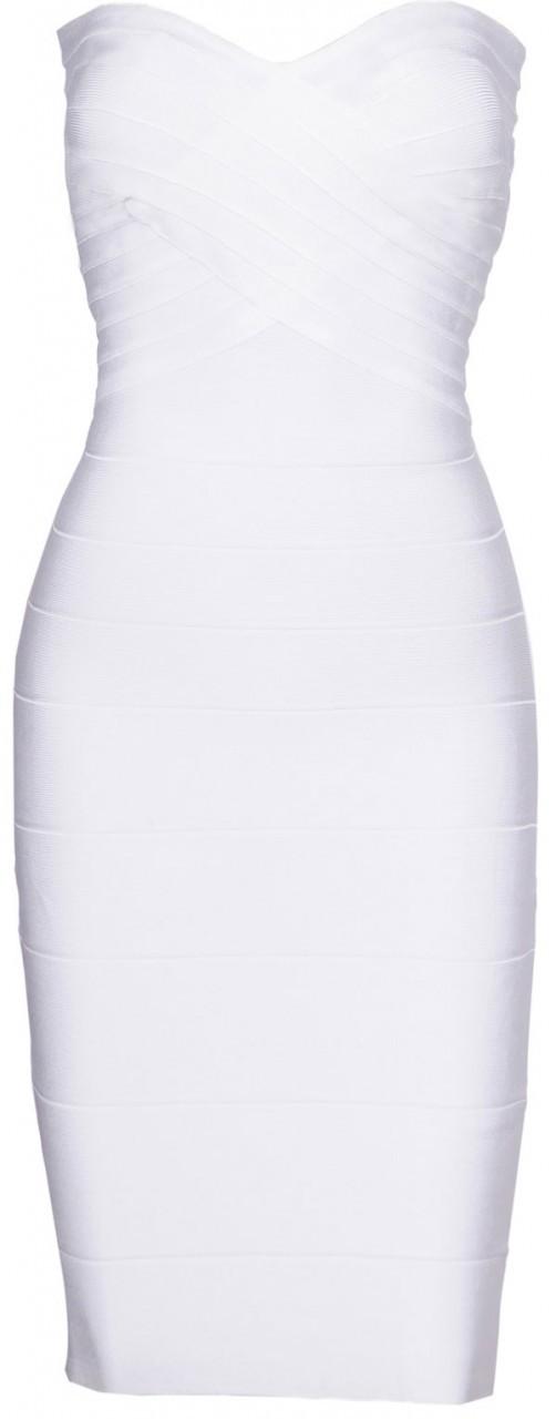 Robe bustier Blanc Modèle Anais - irresistyle