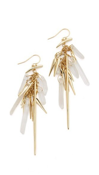 tassel clear earrings gold jewels
