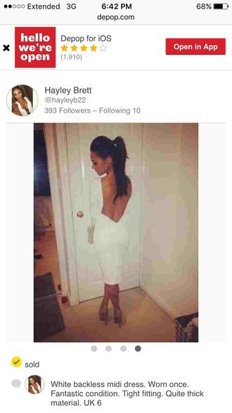 dress backless dress white dress tight dresses