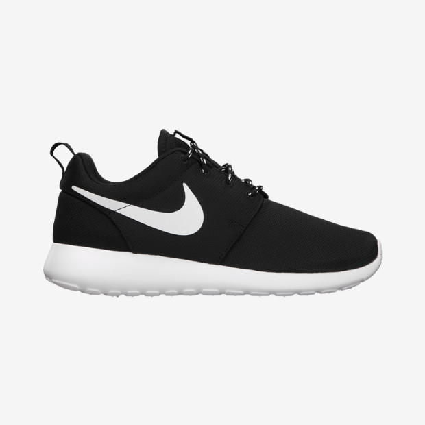 1bed1c4984fe Nike Roshe Run Flyknit Black White Dark Grey On Feet YouTube ...