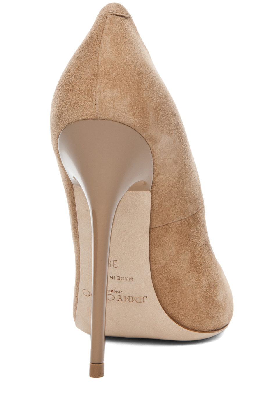 Jimmy Choo|Anouk Suede Pumps in Nude