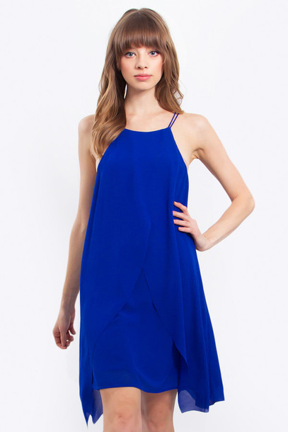 Dress: royal blue dress, blue dress, blue, sleeveless, women ...