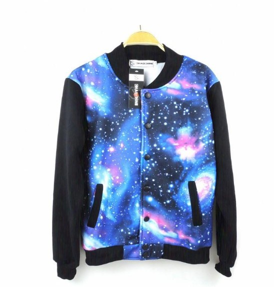 women men sweaters couple Star galaxy baseball uniform sweater jacket jumper · Cute Kawaii [Cute Harajuku] · Online Store Powered by Storenvy