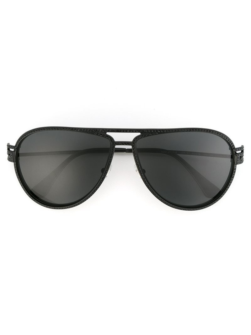 Versace 'Greca Stars' sunglasses, Women's, Black, Brass