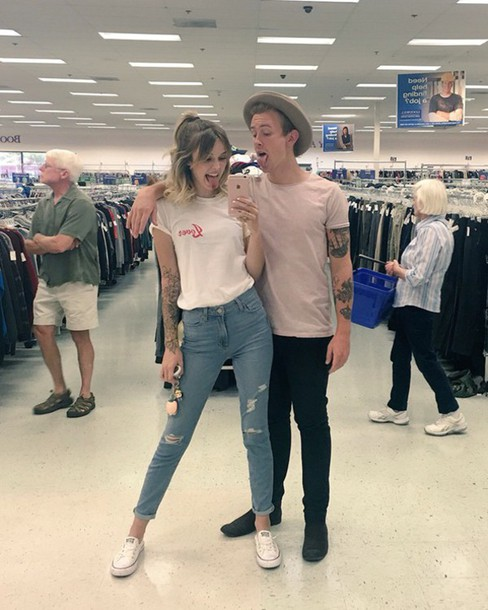 jeans acacia brinley tumblr tumblr outfit outfit idea tumblr shirt tumblr girl tumblr clothes shirt ripped jeans denim pants t-shirt graphic tee white white t-shirt hipster california outfit cute cute outfits