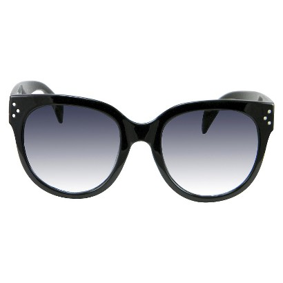 Women's Round Sunglasses - Black