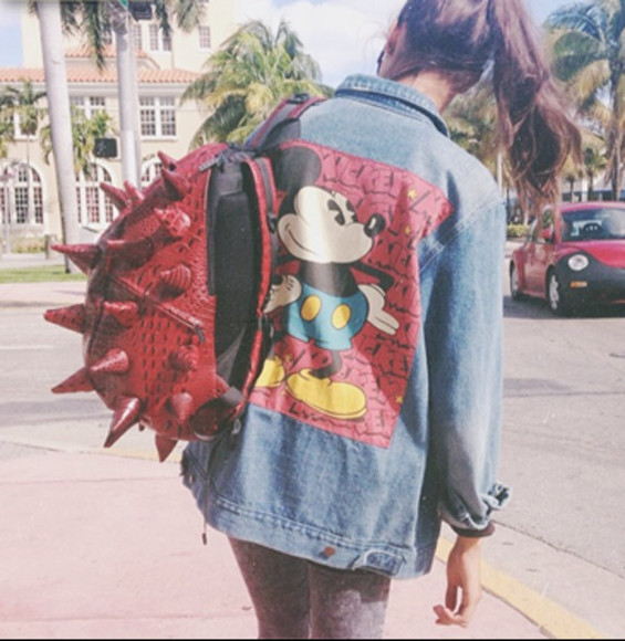 disney mickey summer jacket bag denim fun