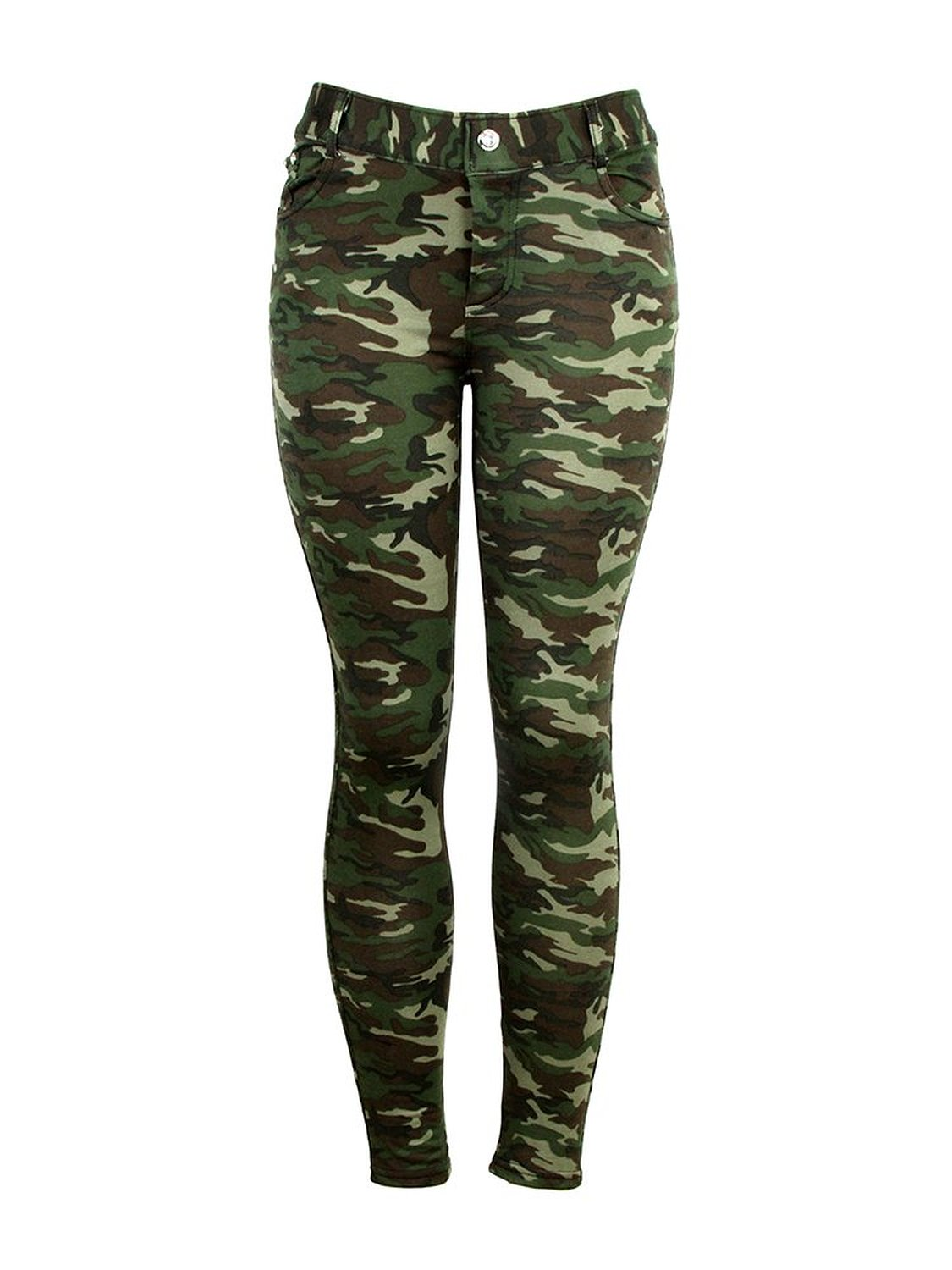 Womens Five Pocket Camouflage Camo Fashion Pants Jeggings (Small/Medium) at Amazon Women's Clothing store: